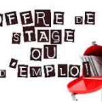 offre de stage ou d'emploi