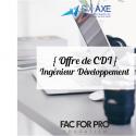 Offre de CDI - Ingénieur Développement - Six-Axe